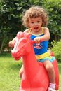 Happy child in park Royalty Free Stock Photo