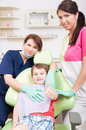 Happy child patient at dentist showing like Royalty Free Stock Photo