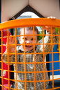 Happy child in playground Royalty Free Stock Image