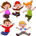 Happy children cartoon illustration of Royalty Free Stock Images