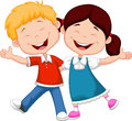 Happy children cartoon illustration of Stock Image