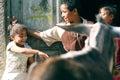 Happy poor children in egypt Royalty Free Stock Photo