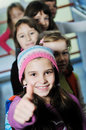 Happy children group in school Stock Photography