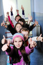 Happy children group in school Royalty Free Stock Photography