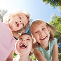 Happy children having fun Royalty Free Stock Photo