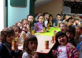 Happy children at kindergarten in bucharest romania Stock Images