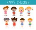 Happy children set, happy, kid symbol child, Vector illustration