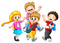 Happy childrens cartoon