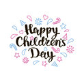 Happy Childrens Day lettering