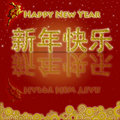 Happy Chinese New Year 2011 Rabbit Gold Coins Red Stock Photography