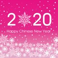 2020 Happy Chinese New Year card template. Design patern snowflakes Royalty Free Stock Photo