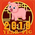 Happy Chinese new year 2019.Year of the pig