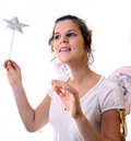 Happy Christmas Fairy Stock Photography