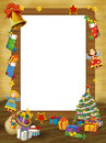 Happy christmas frame border illustration for the children beautiful related Stock Photography