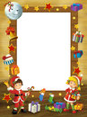 Happy christmas frame border illustration for the children beautiful related Stock Image