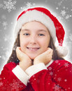 Happy Christmas Girl Royalty Free Stock Images
