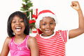 Happy Christmas kids Royalty Free Stock Photo