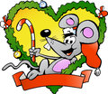 Happy christmas mouse Stock Image