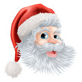 Happy Christmas Santa face Stock Images