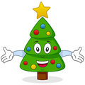 Happy Christmas Tree Character Stock Images