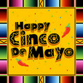 Happy Cinco De Mayo Stock Photo