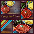 Happy Cinco de Mayo, 5th May, collage Royalty Free Stock Photo