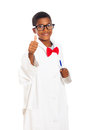 Happy clever scientist child Royalty Free Stock Photo