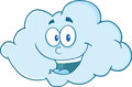 Happy cloud cartoon character mascot Royalty Free Stock Photography