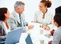 Happy colleagues having a business meeting Royalty Free Stock Photo
