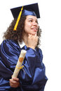 Happy college grad Royalty Free Stock Image
