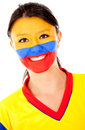 Happy Colombian woman Royalty Free Stock Images