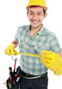 Happy construction worker Royalty Free Stock Photography