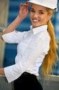 Happy contractor Royalty Free Stock Photo