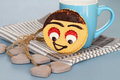 Happy cookie an image of a smile faced Royalty Free Stock Images