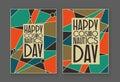 Happy cosmonautics day card