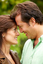 Happy couple face to face Royalty Free Stock Images