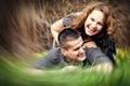Happy couple having fun outdoor Royalty Free Stock Photo