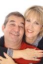 Happy couple headshot Royalty Free Stock Photos