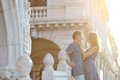 Happy couple in honeymoon, Venice, Italy Royalty Free Stock Photo