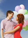 Happy couple outdoors Royalty Free Stock Photography