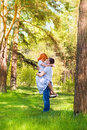 Happy couple in park outdoor love posing spring summer sunny weather young boy and girl having fun outdoor Royalty Free Stock Images