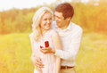 Happy couple, ring, engagement Royalty Free Stock Photo