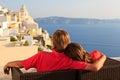 Happy couple on Santorini vacation Royalty Free Stock Photo