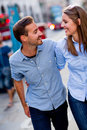 Happy couple smiling Royalty Free Stock Photos