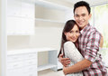 Happy couple at their new house Royalty Free Stock Photography