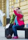 Happy couple on travel vacation holidays. Romantic Royalty Free Stock Photo