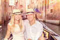 Happy couple in Venice Royalty Free Stock Photo