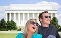 Happy Couple in Washington DC Stock Photography
