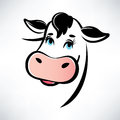 Happy cow portrait outlined symbol Royalty Free Stock Photo