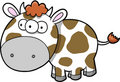 Happy Cow Vector Royalty Free Stock Images
